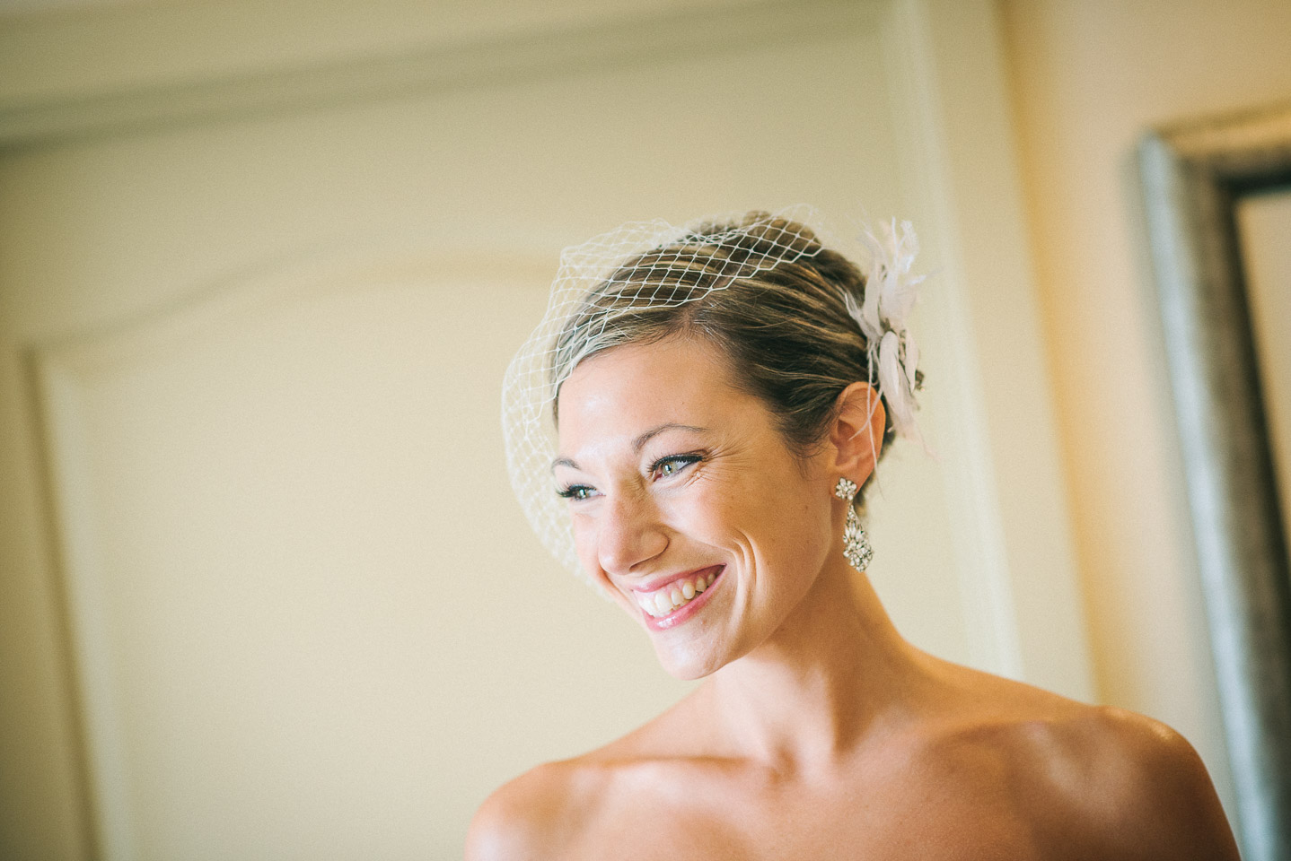 NH Wedding Photography: bride laughing