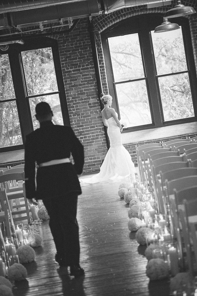 NH Wedding Photography: groom walking to bride