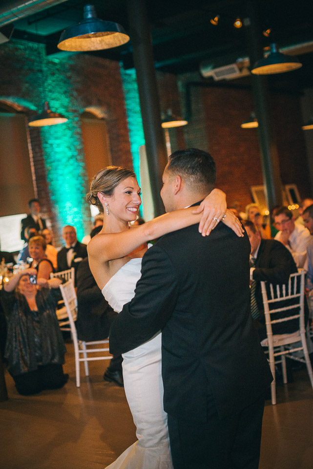 NH Wedding Photography: first dance in Dover NH