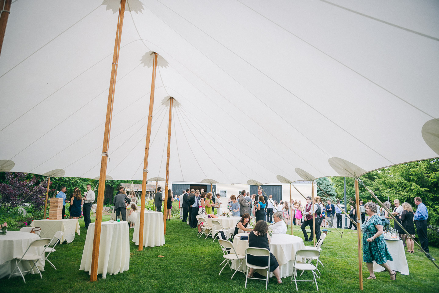 NH Wedding Photography: cocktail hour at Bedford Village Inn