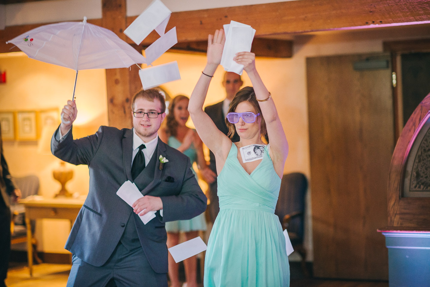NH Wedding Photography: wedding party introductions