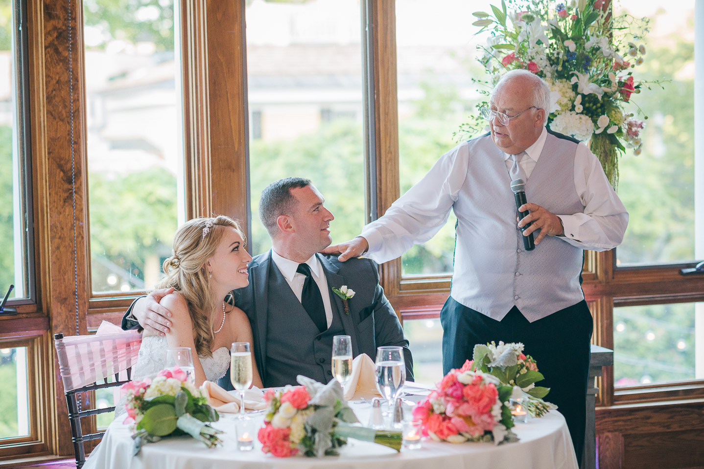 NH Wedding Photography: toast from father of bride