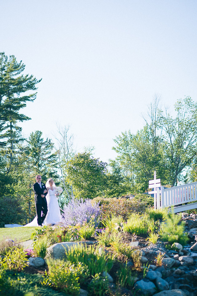 NH Wedding Photography: processional bride with dad