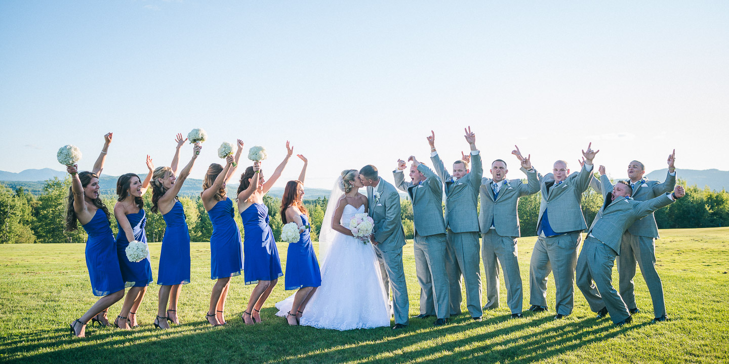 NH Wedding Photography: whole bridal party