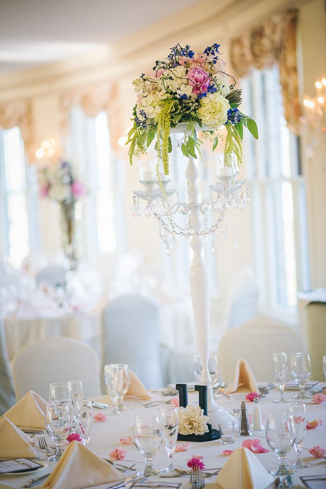 NH Wedding Photography: reception table details