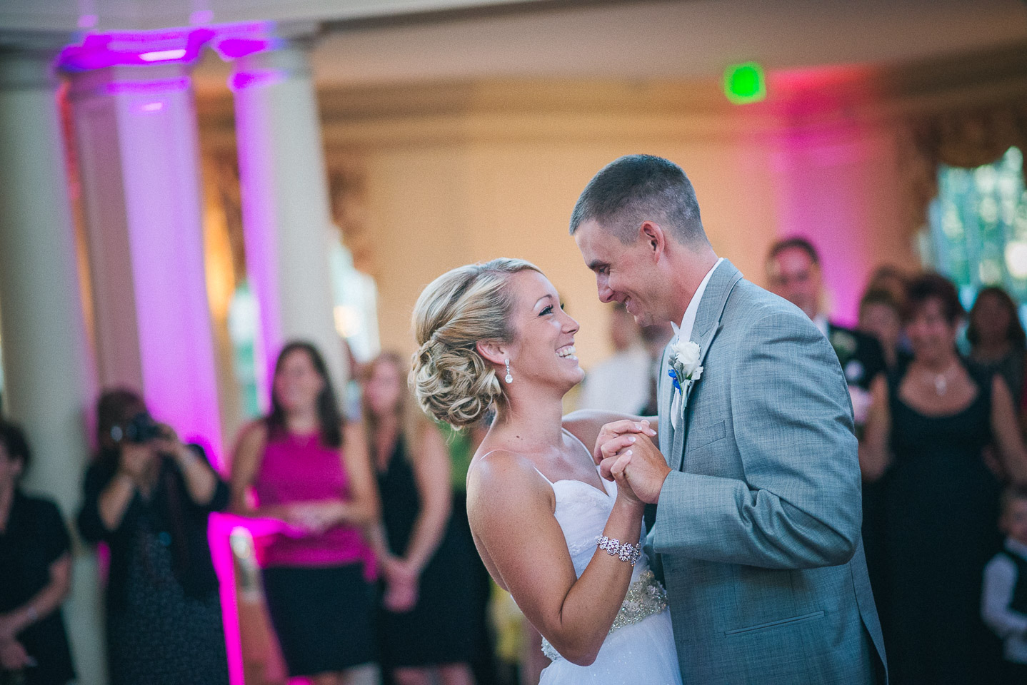 NH Wedding Photography: bride and groom's first dance