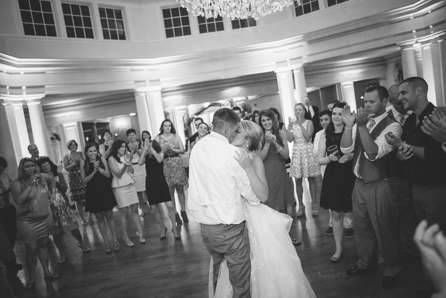 NH Wedding Photography: bride and groom dancing at reception