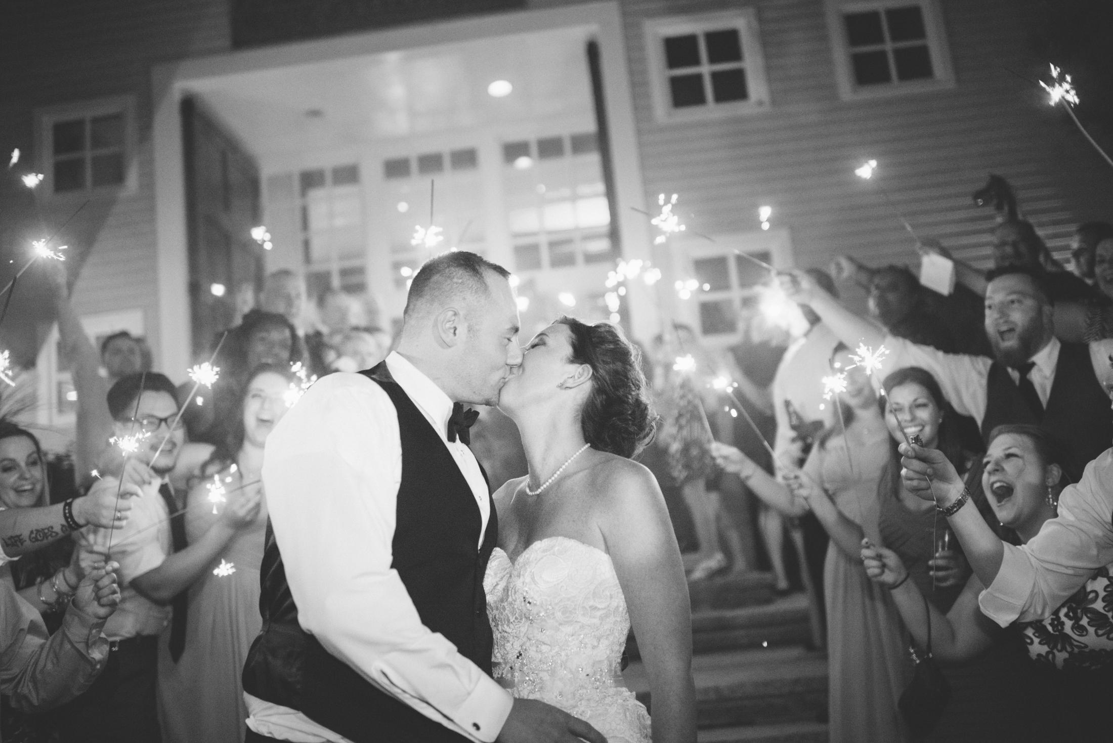 NH Wedding Photographer: Bedford Village Inn at night