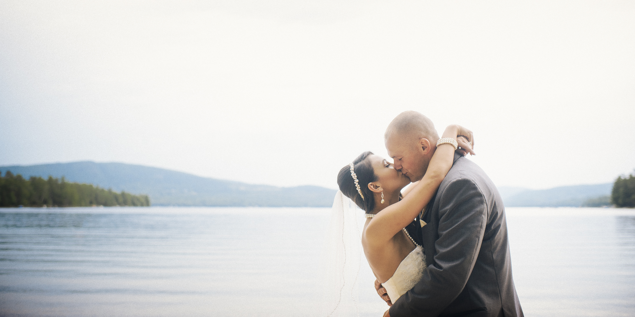 NH Wedding Photographer: Couple at Newfound Lake