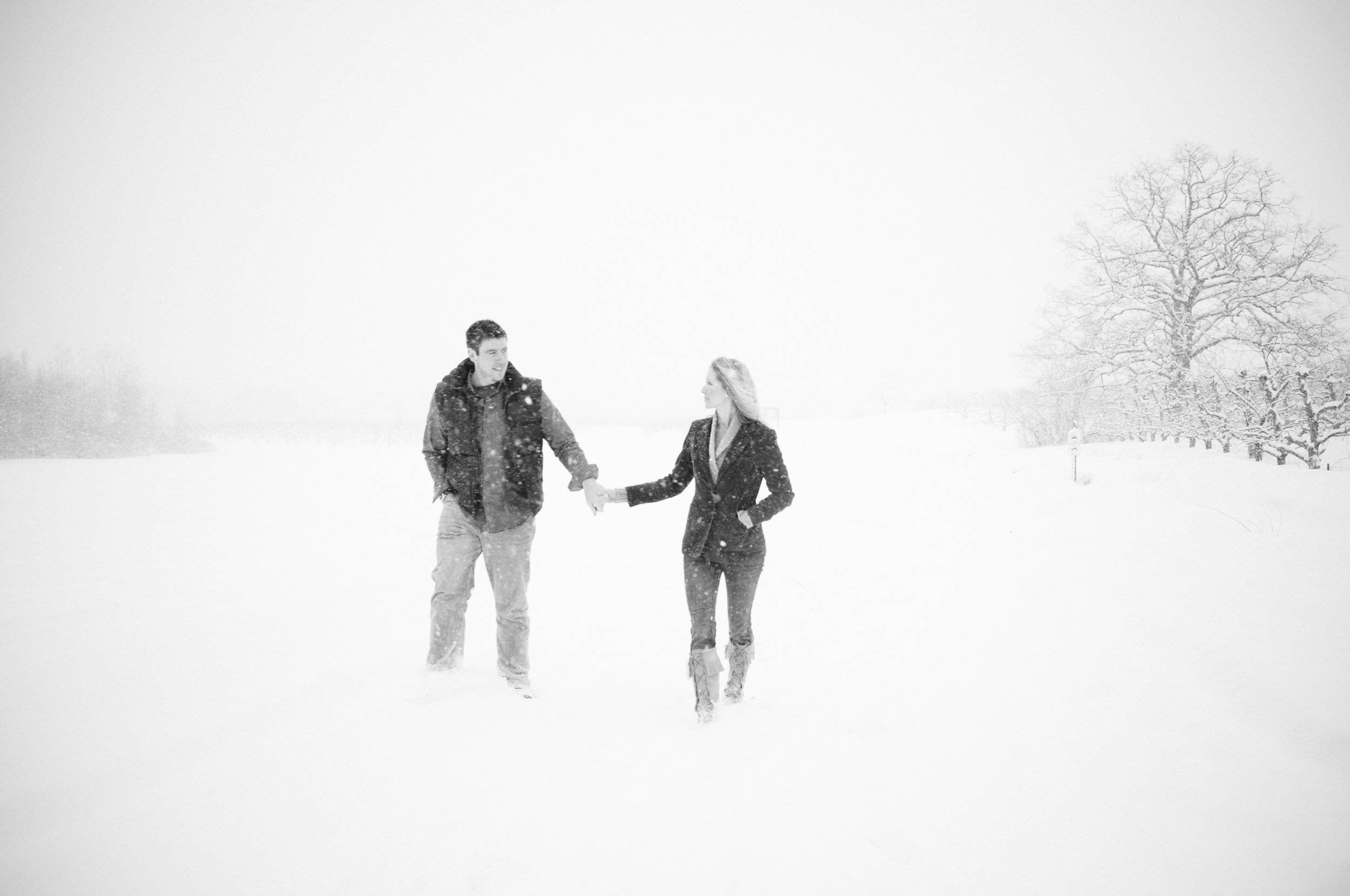 NH Wedding Photographer: Macks Apples Londonderry winter snowing