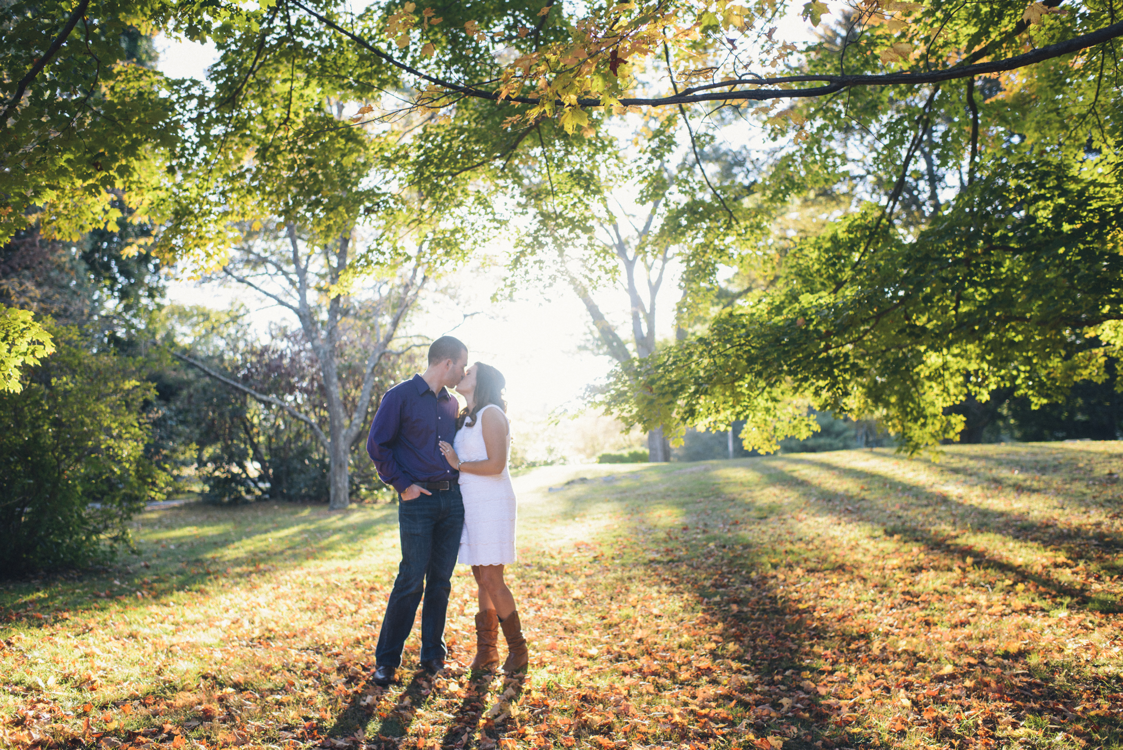 NH Wedding Photographer: fall engagement session