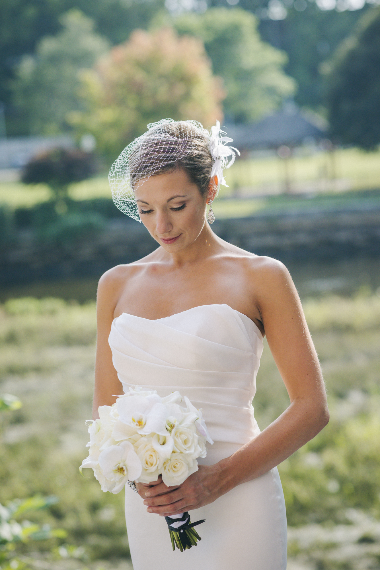 NH Wedding Photographer: bride at Rivermill in Dover NH