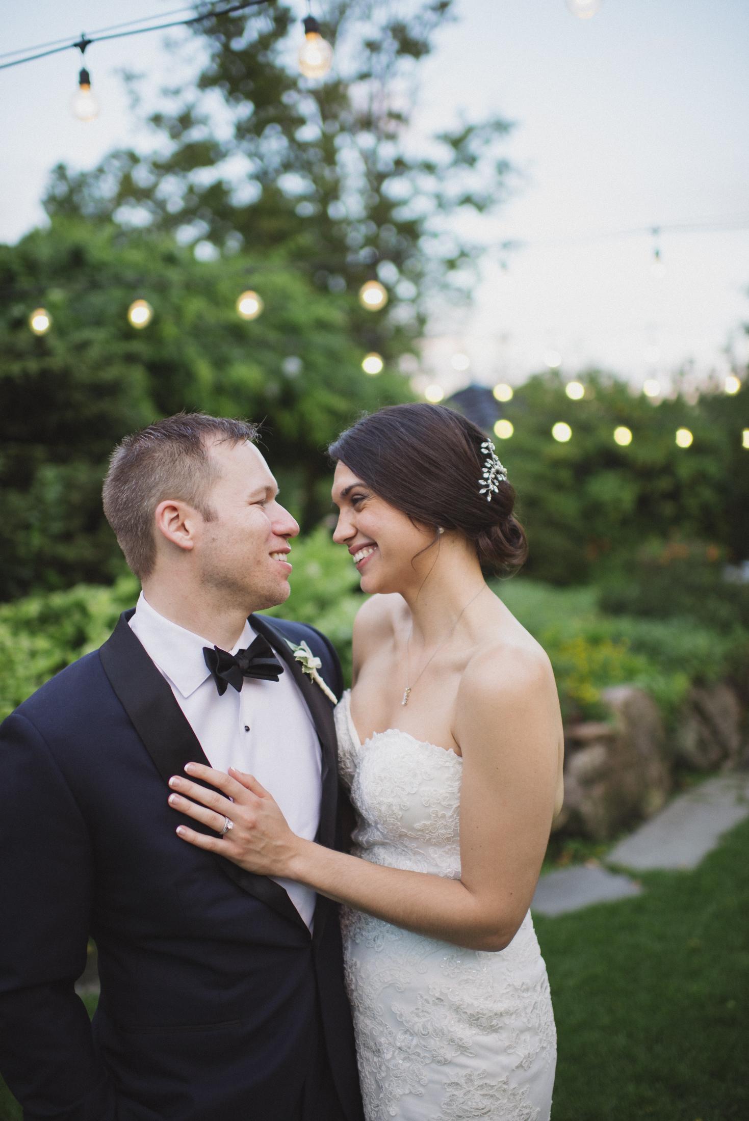 NH Wedding Photographer: BVI couple under lights