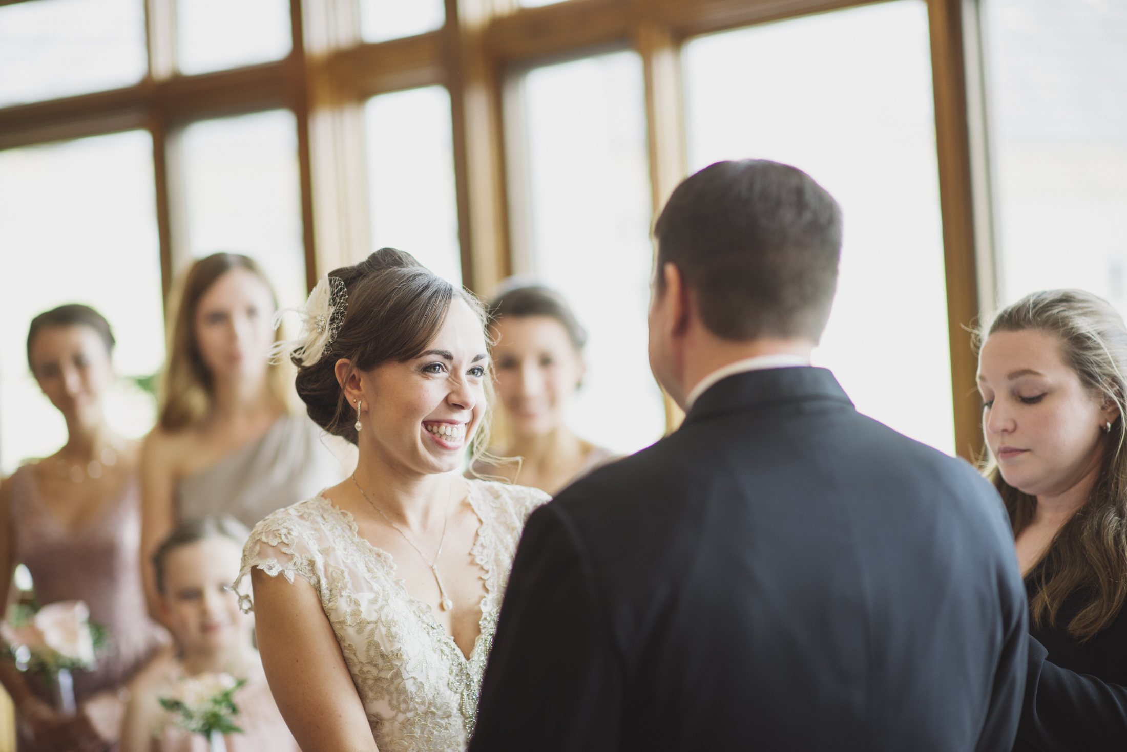NH Wedding Photographer: Indoor ceremony at Bedford Village Inn