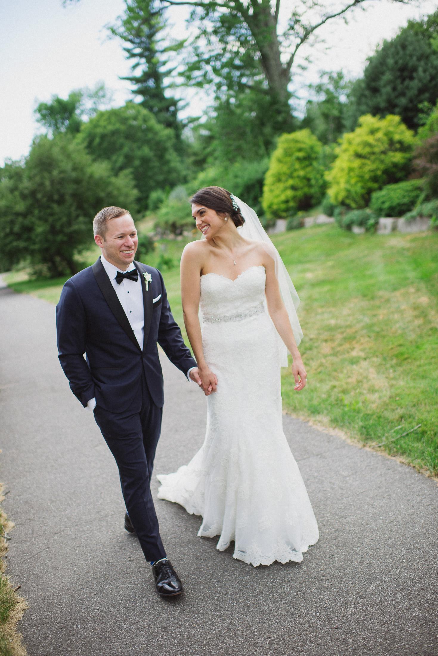 NH Wedding Photographer: walking on path at BVI