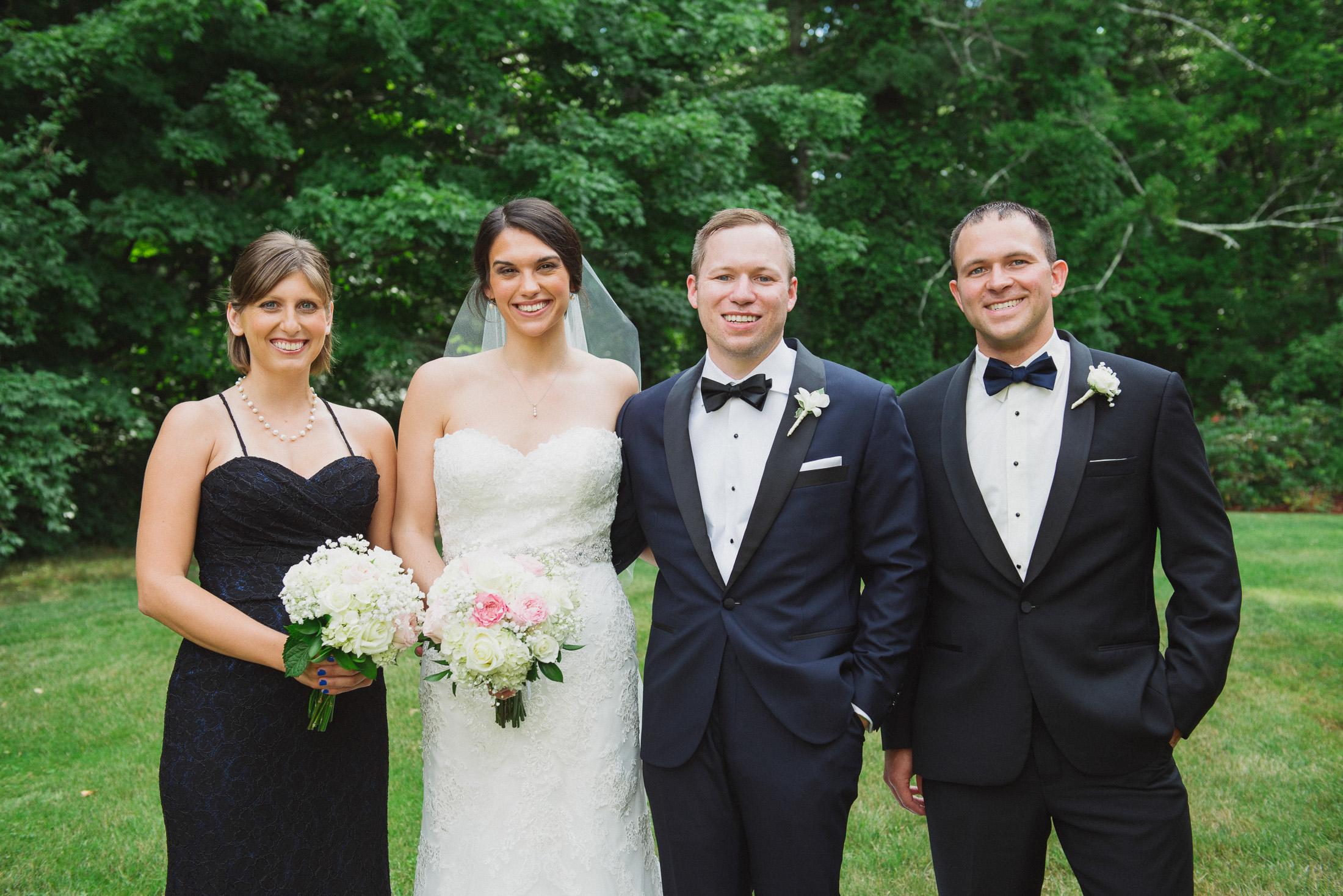 NH Wedding Photographer: bridal party at BVI