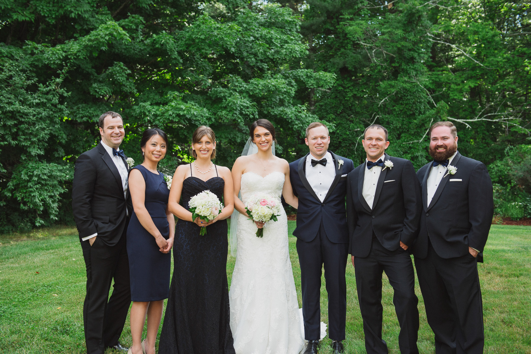 NH Wedding Photographer: bridal party in Bedford
