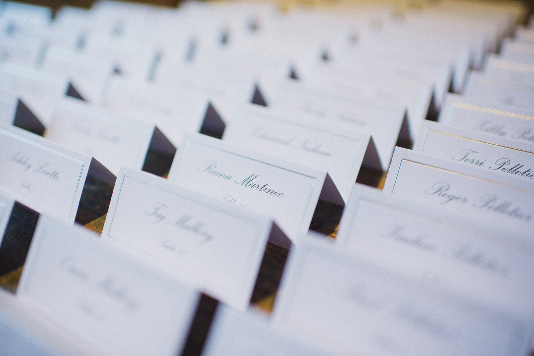 NH Wedding Photographer: table cards