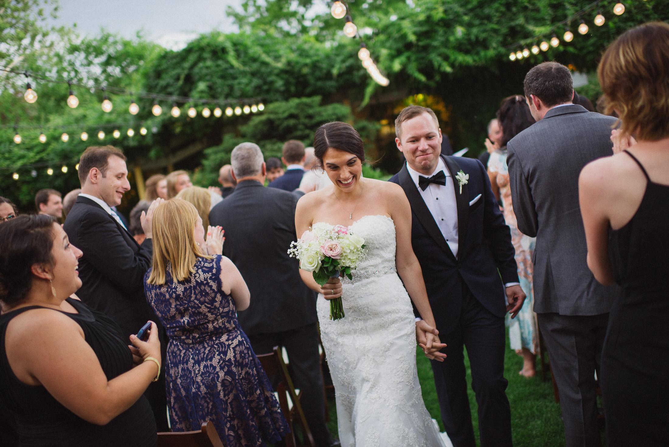 NH Wedding Photographer: recessional at BVI