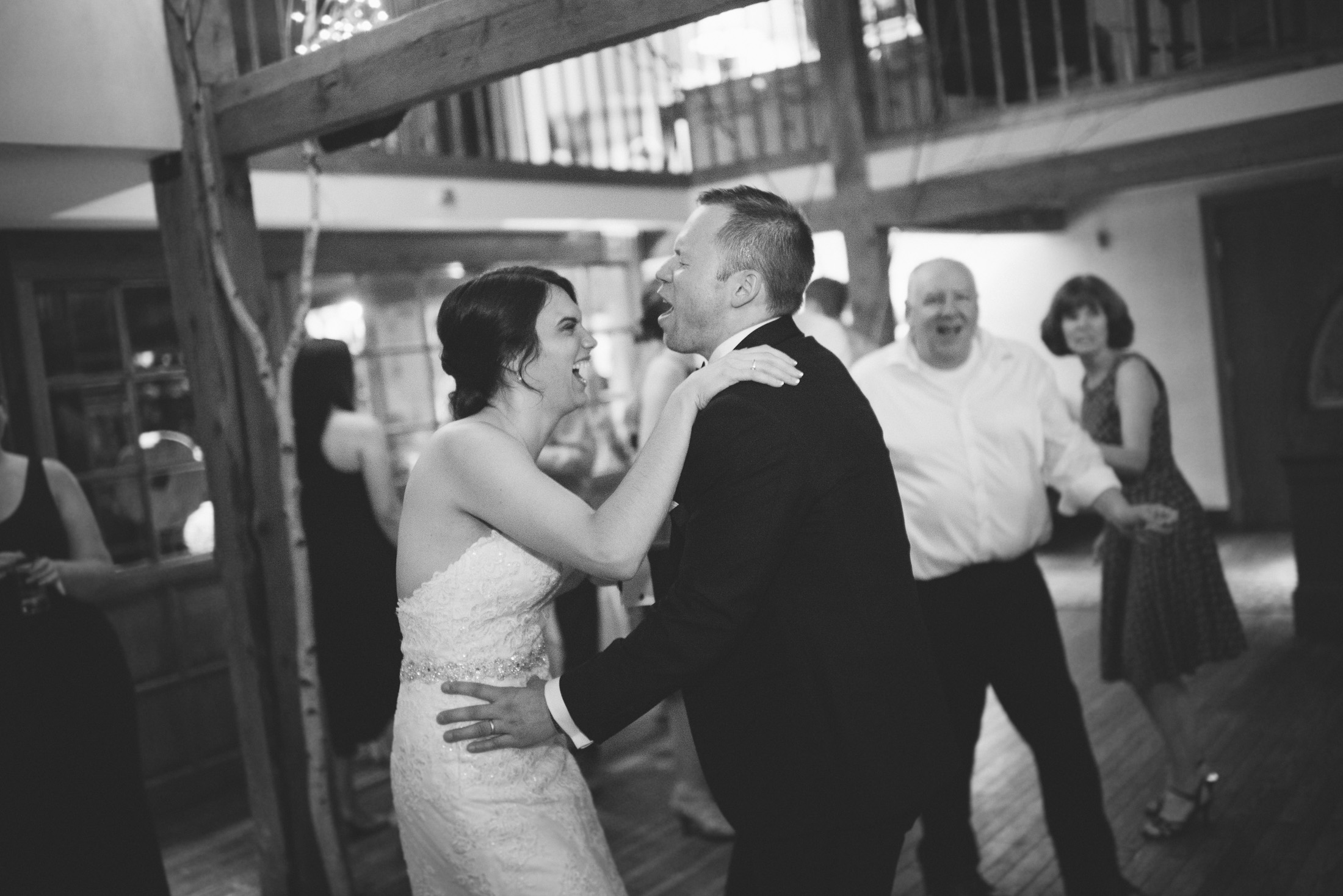 NH Wedding Photographer: reception dancing