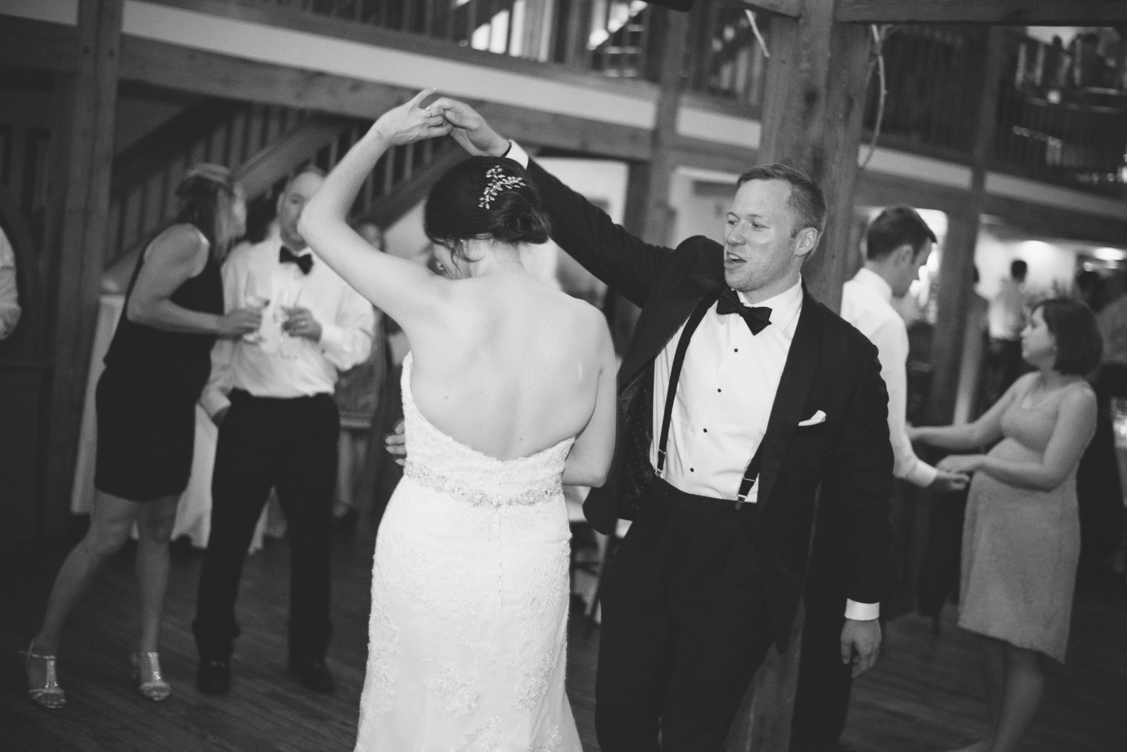 NH Wedding Photographer: reception couple dancing