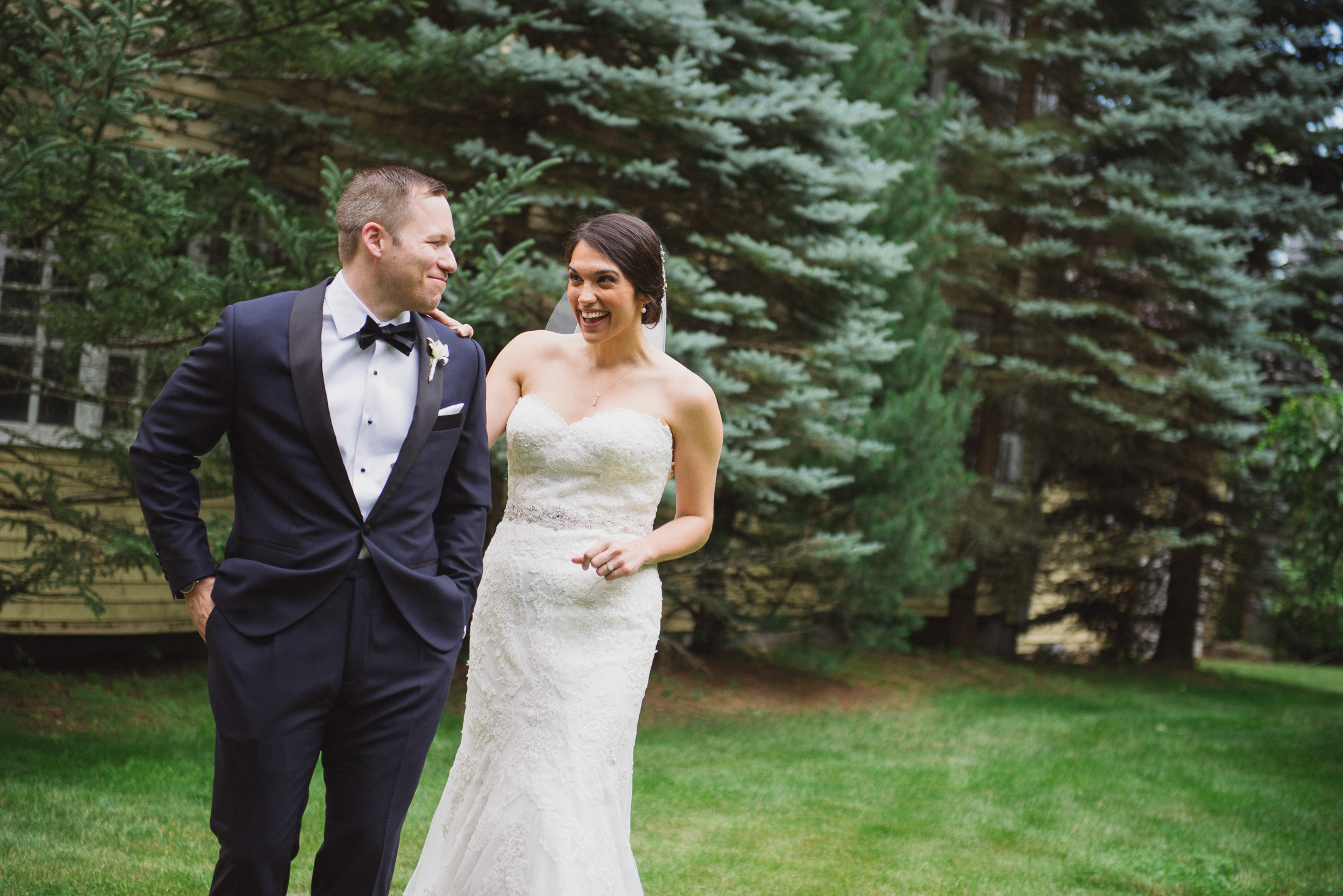 NH Wedding Photography: first look in Bedford NH