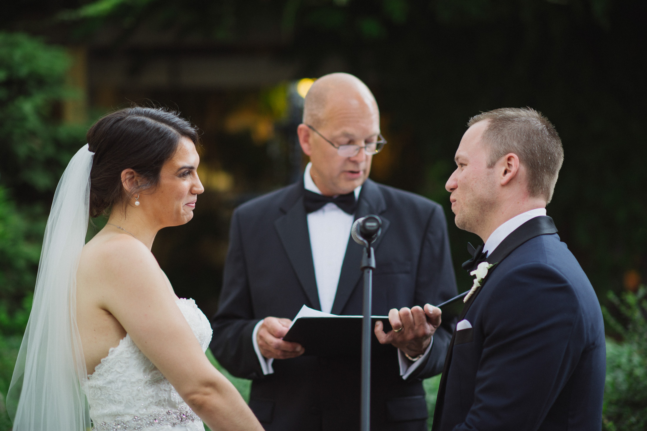 NH Wedding Photography: bride and groom at ceremony