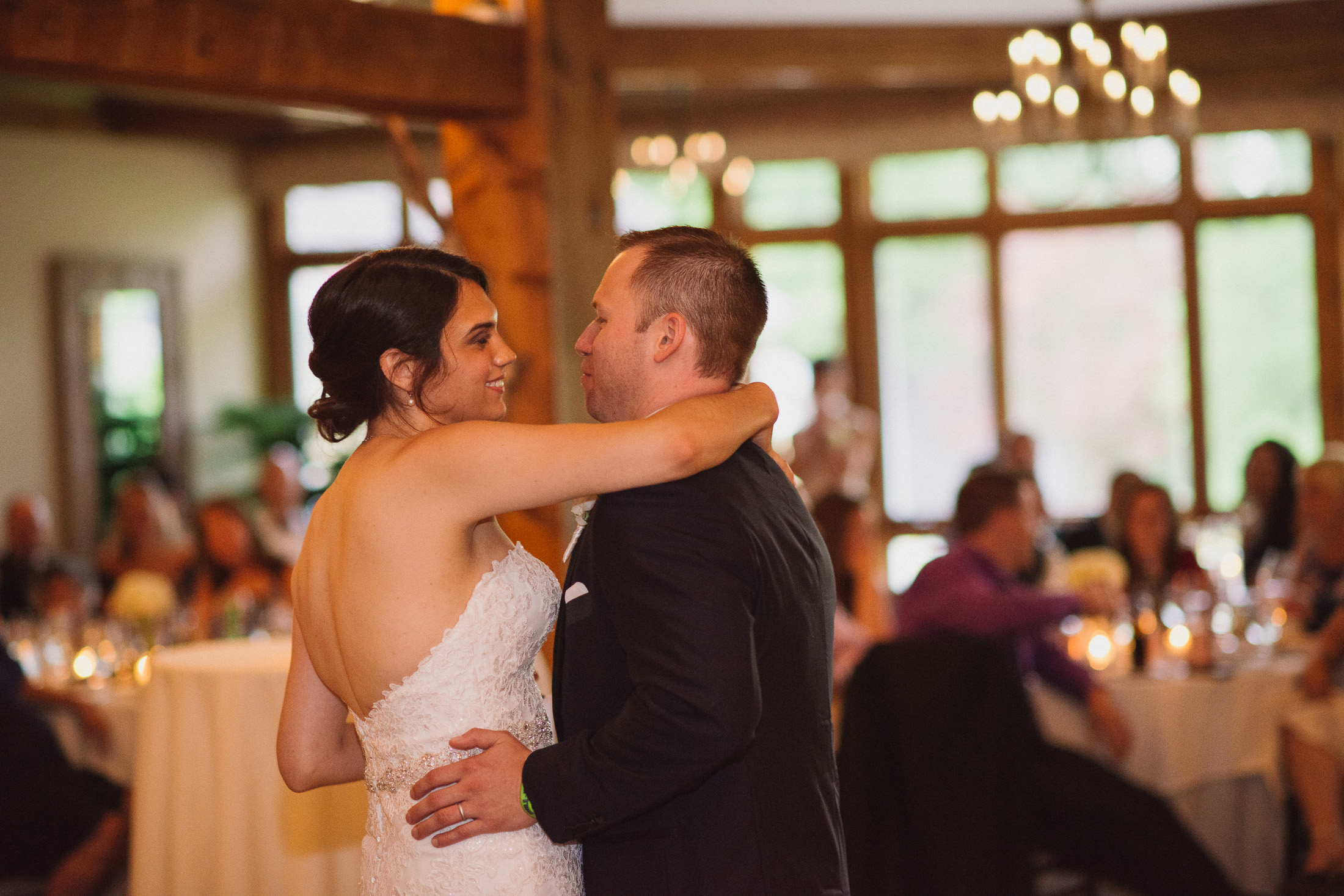NH Wedding Photography: couple's first dance
