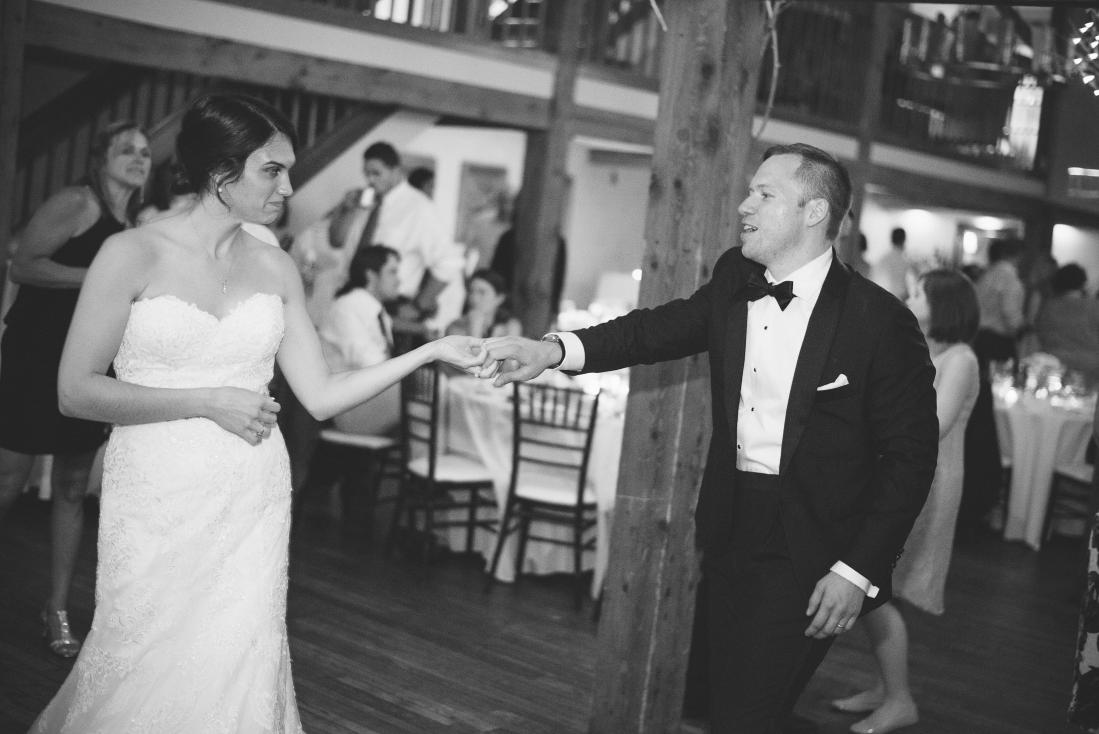 NH Wedding Photography: laughing and dancing