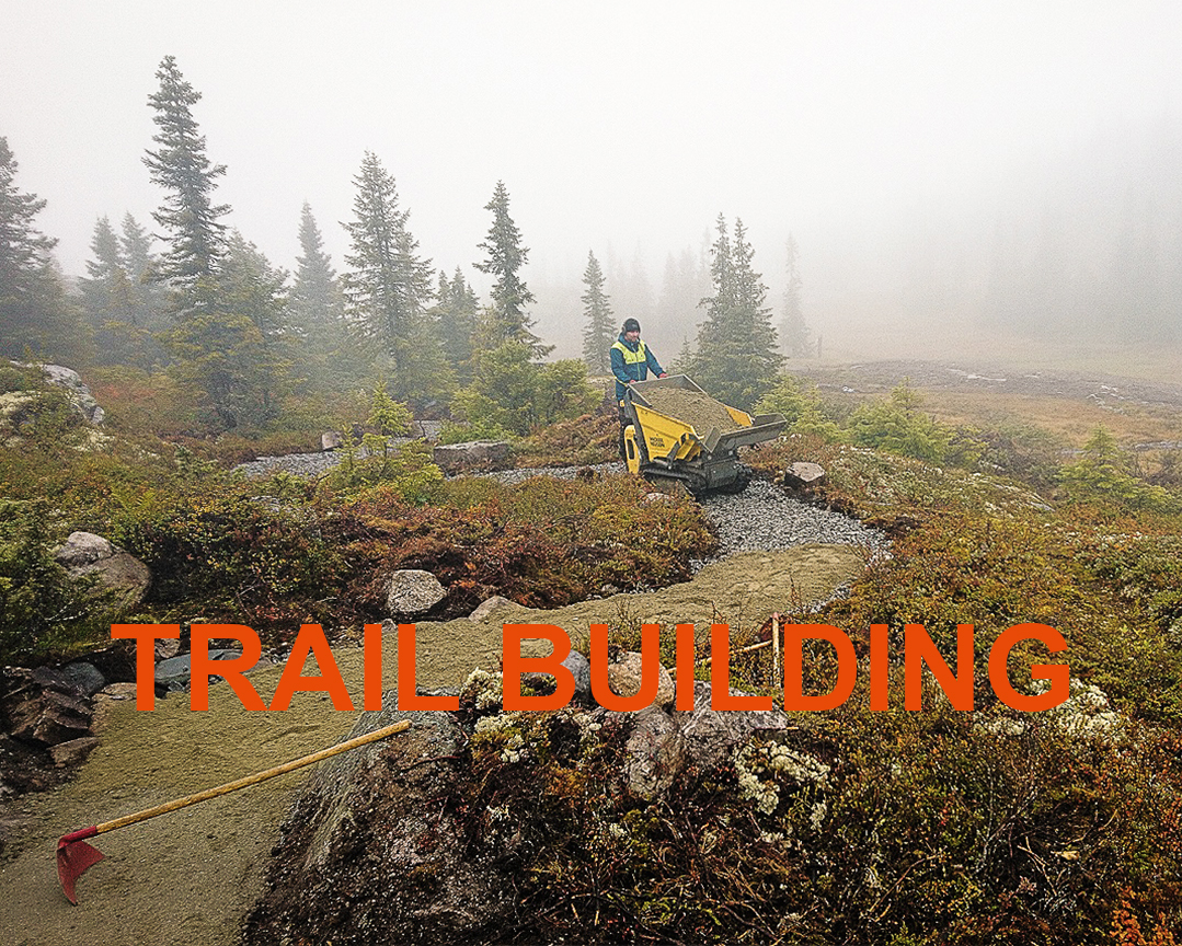 Trail building - We have cleared, built and maintained trails for years.