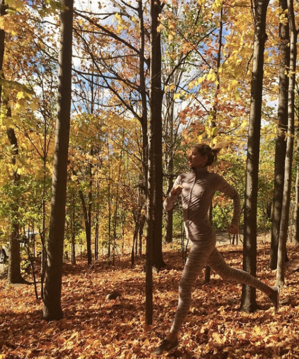 6. Footing in a forest in the fall