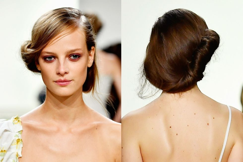 Brock Collection: Soft Rolled-in Chignon