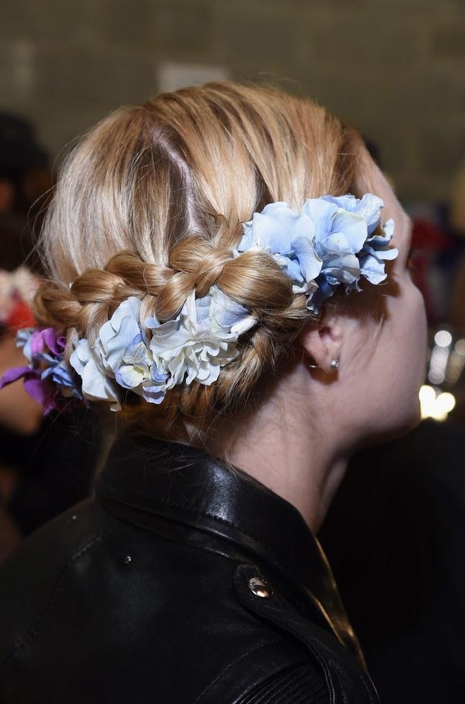 Naeem Khan: Floral Crown Braid