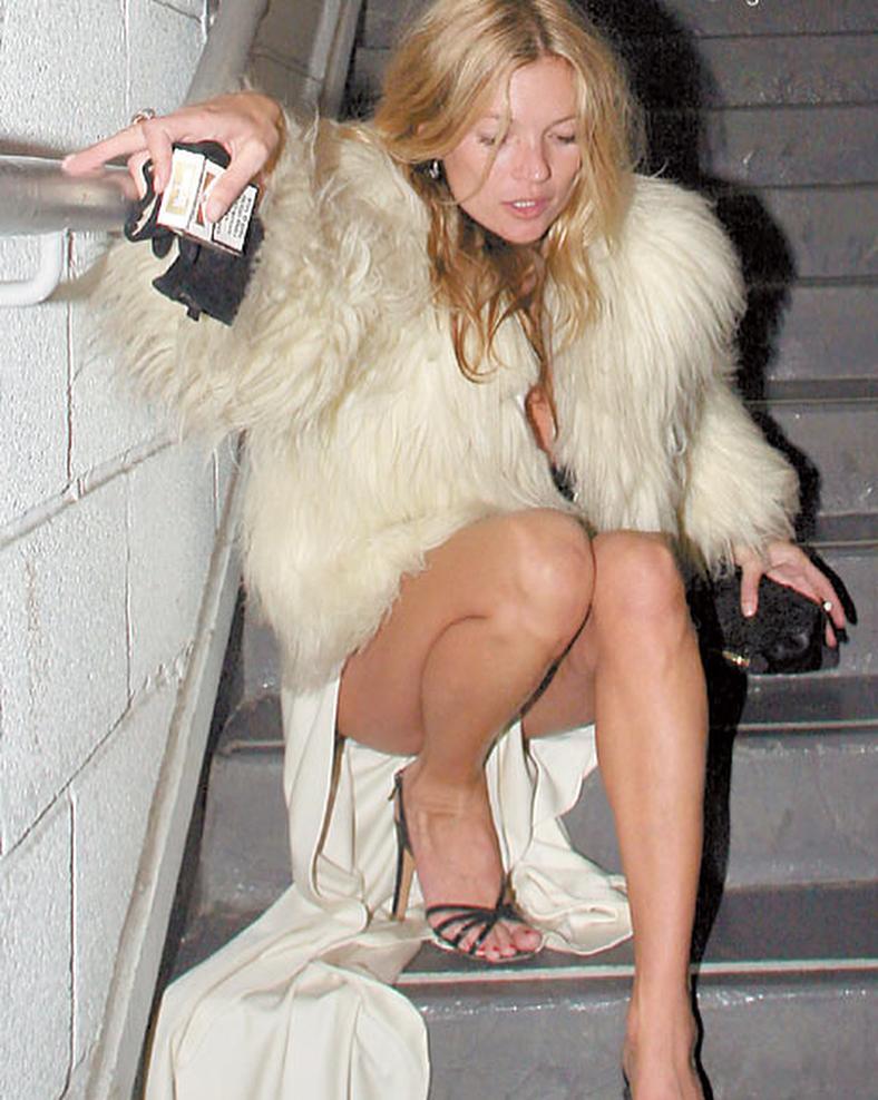 Slip dress and fur coat