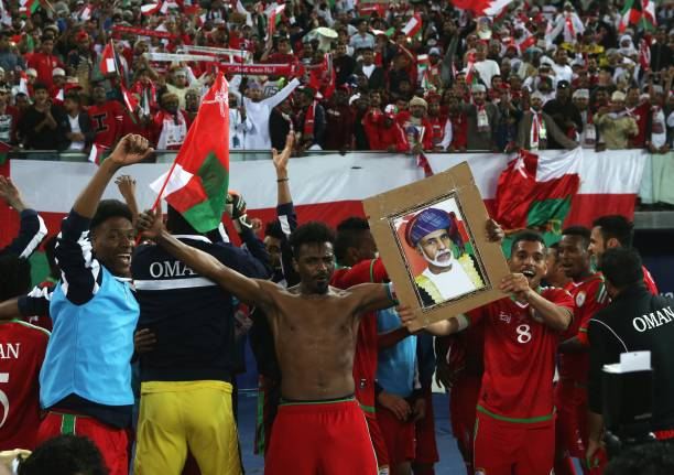 The one who spoke the least, celebrated the most. Oman after winning the Gulf Cup (Getty Images©)