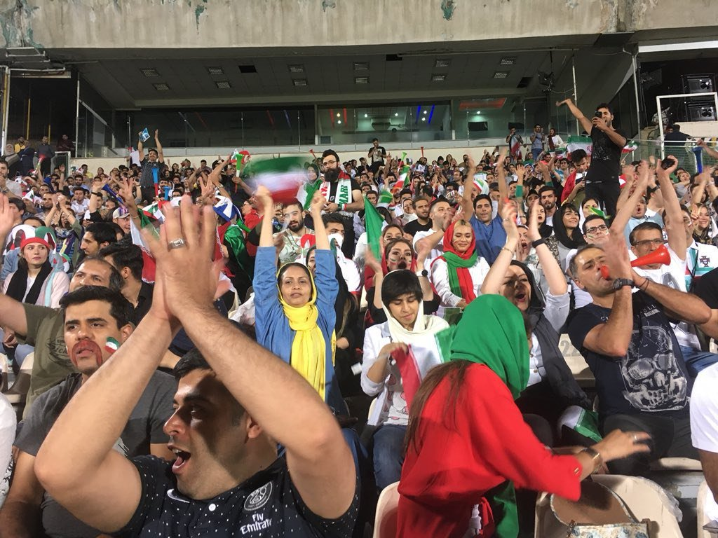 Women in Azadi during the World Cup, when these change will be completed? (@openStadium in Twitter)