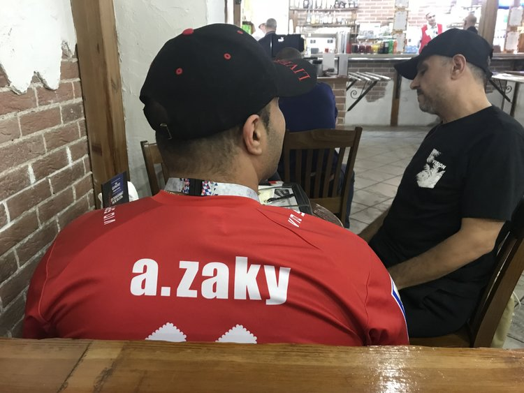 Will he play? Egyptian fans at the Demodedovo Airport (Photo: Uri Levy)