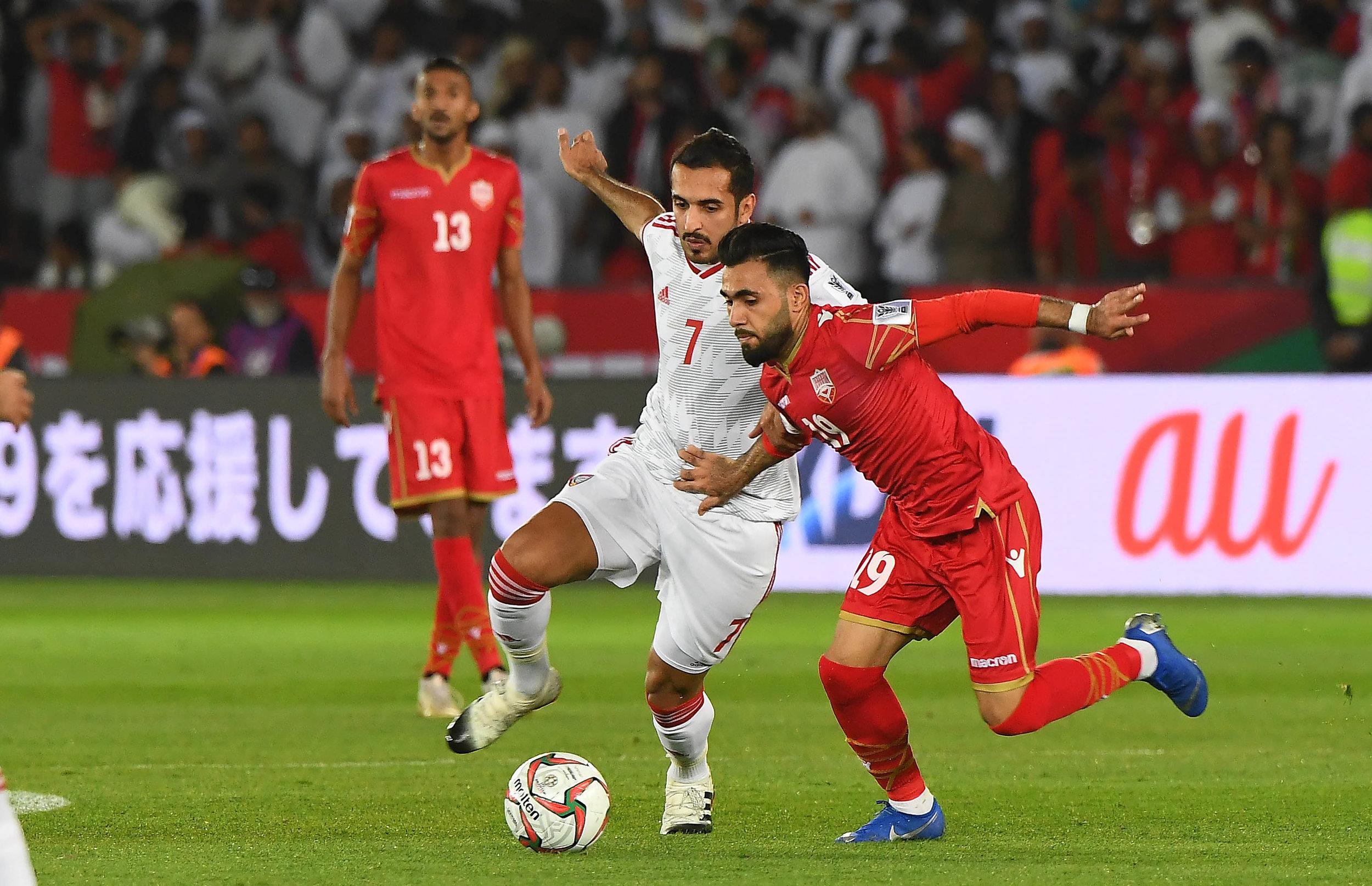 Ali Mabkhout, his team almot failed to handle Bahrain well (2019 Asian Football Confederation (AFC))