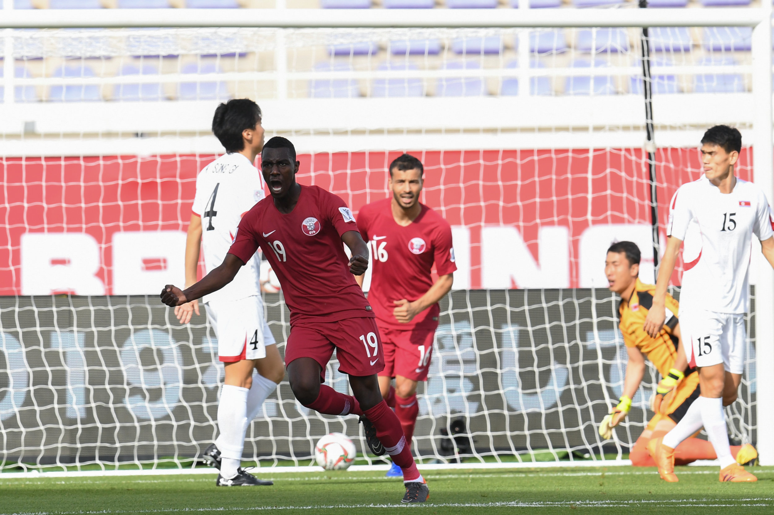 Ali Almoez, was unstoppable against the poor defence of North Korea (Asian Football Confederation (AFC))