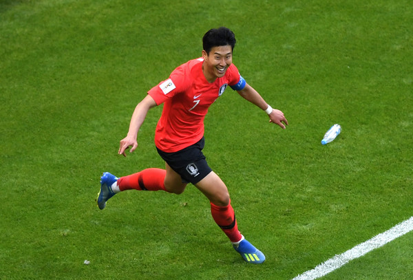 Son Heung-Min, ready to support his teammates (Shaun Botterill/Getty Images)