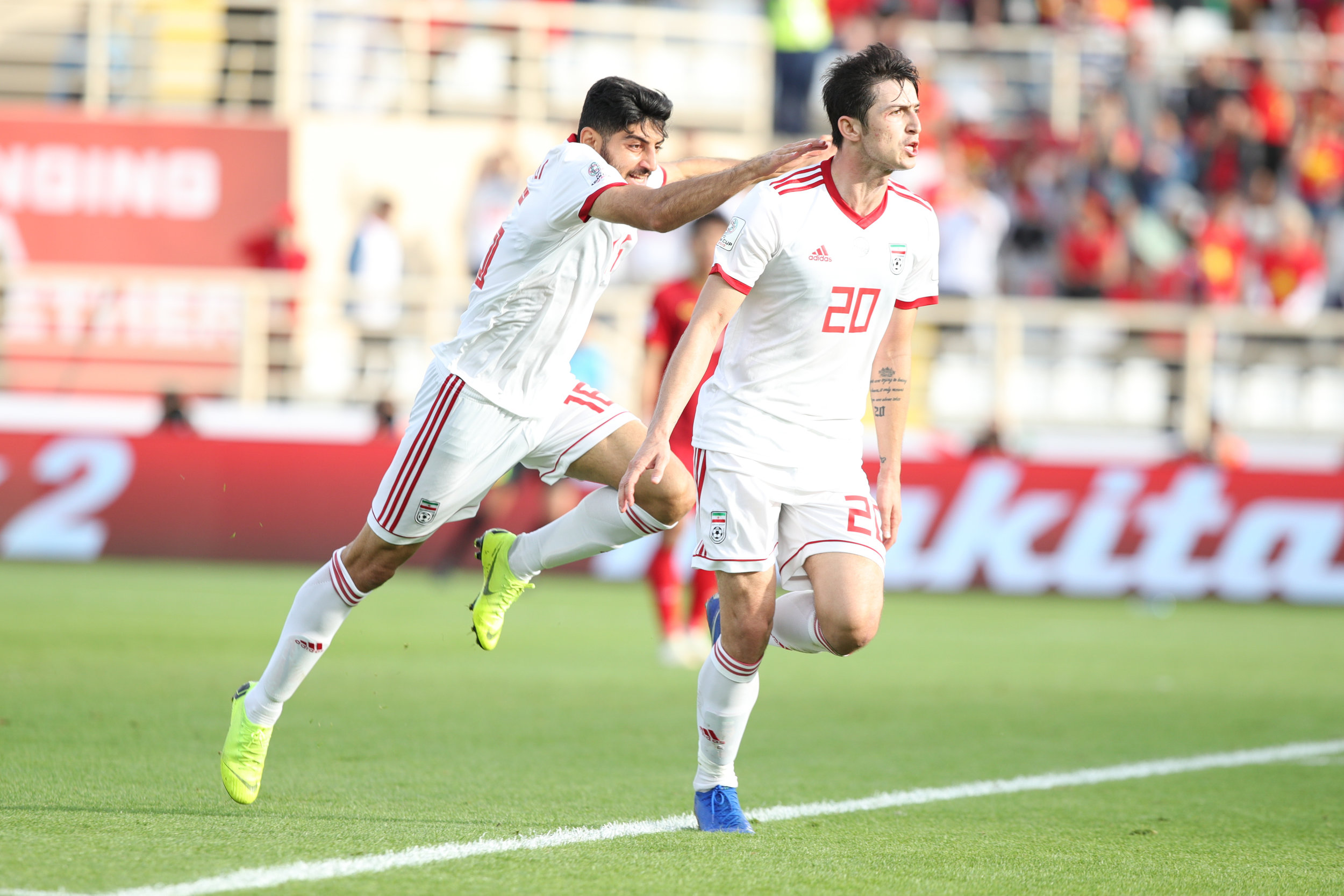 Sardar Azmoun, Iran's leading scorer wishes to defeat their fierce rivals from Iraq (Asian Football Confederation (AFC))