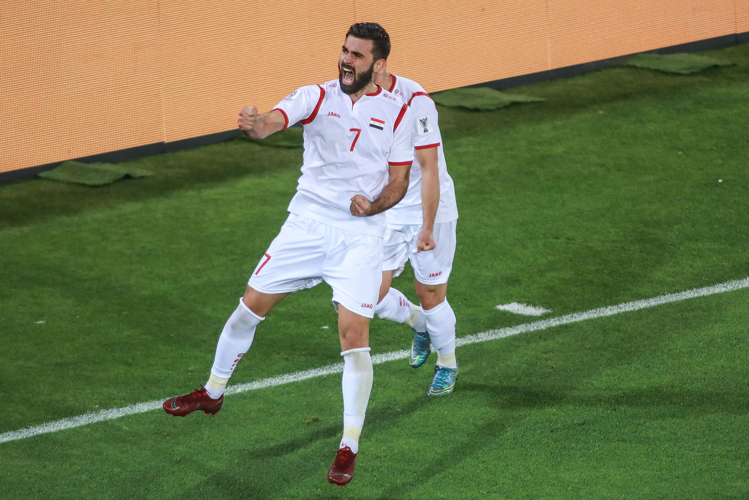 Omar Khribin, brough some hope for the Syrian side (Asian Football Confederation (AFC))