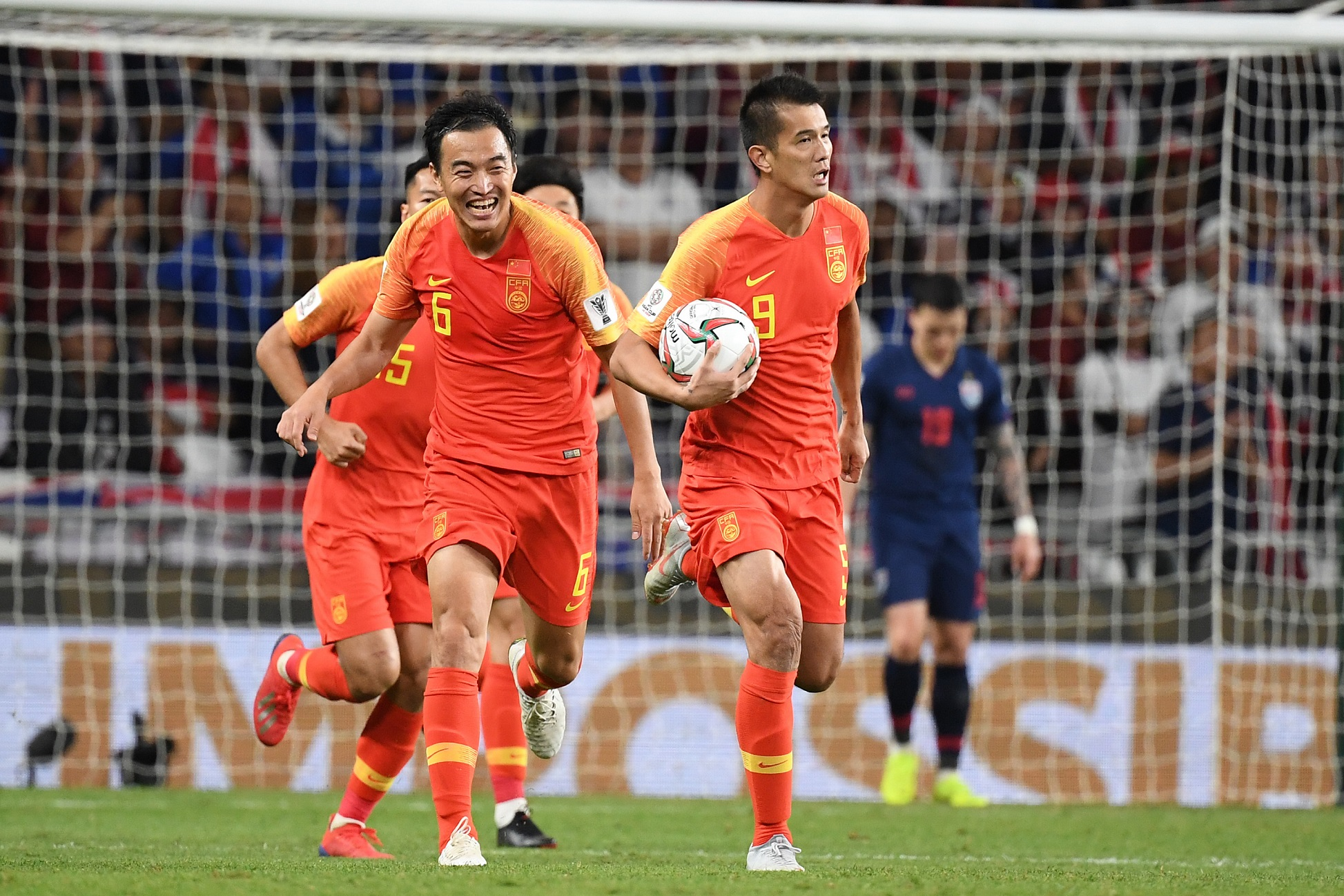 Xiao Zhi after his goal, China will need to play better against Iran (Asian Football Confederation (AFC))