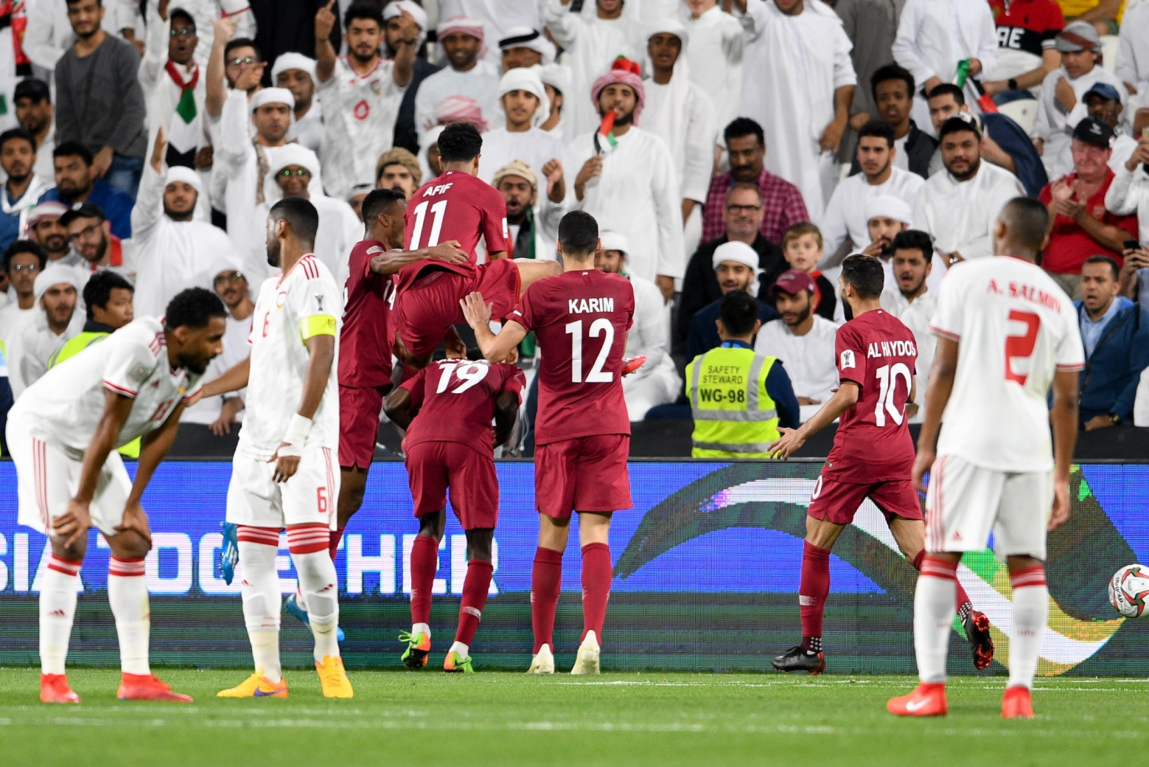 Almoez Ali and Qatar, danced in front of the home crowd (Asian Football Confederation (AFC))