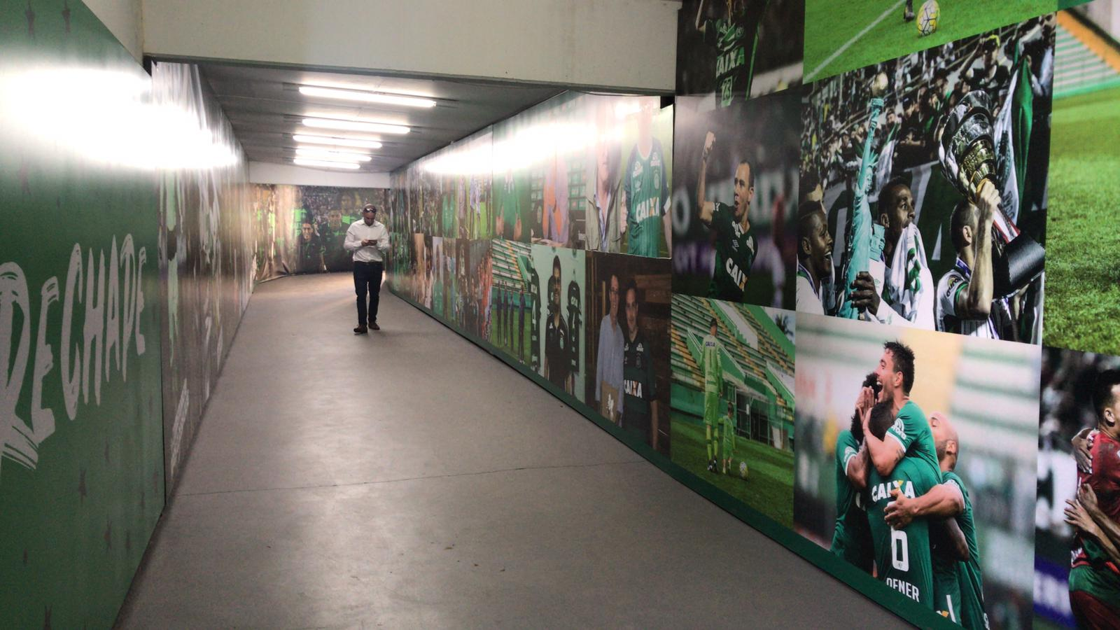The players' tunnel at Arena Conda. (Photo: Judith Charbit)
