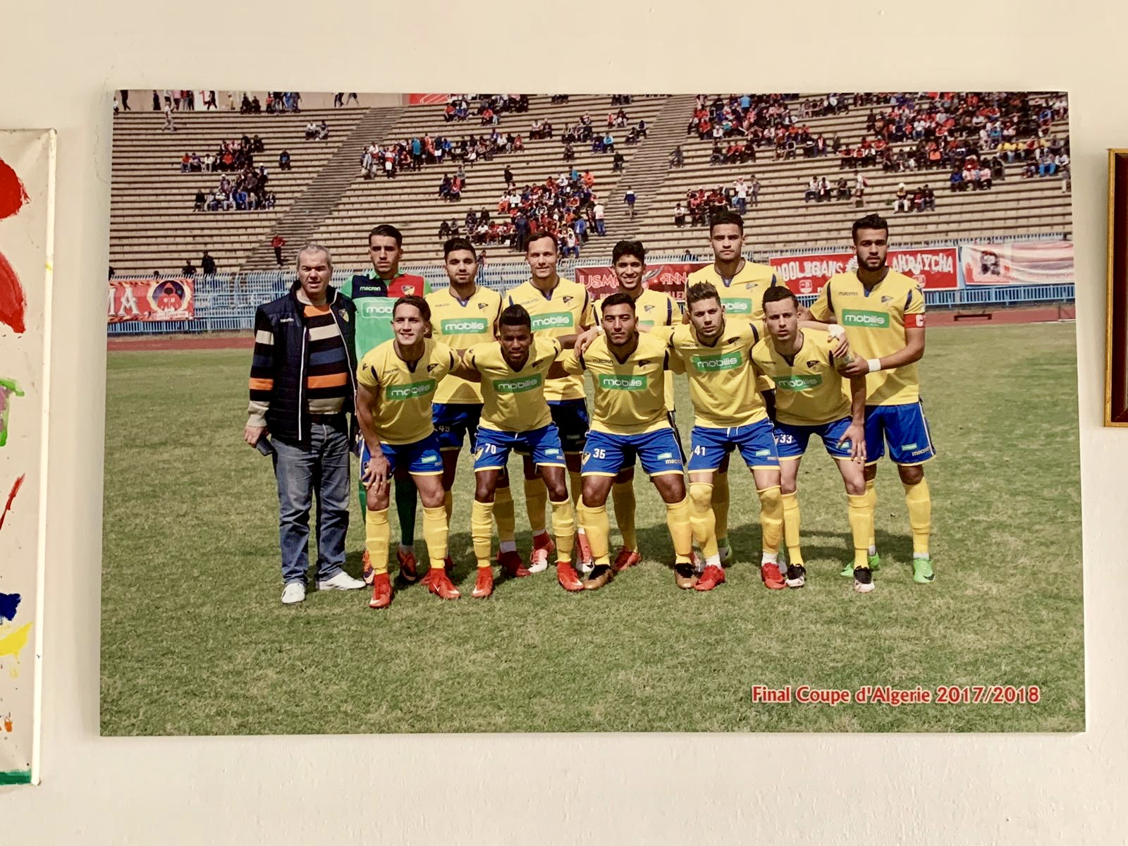 Algerian Cup final 2017/18. Next year Paradou will play continental football for the first time ever.  Photo credit: Mohamed Brahdji ( dzfoot.com )