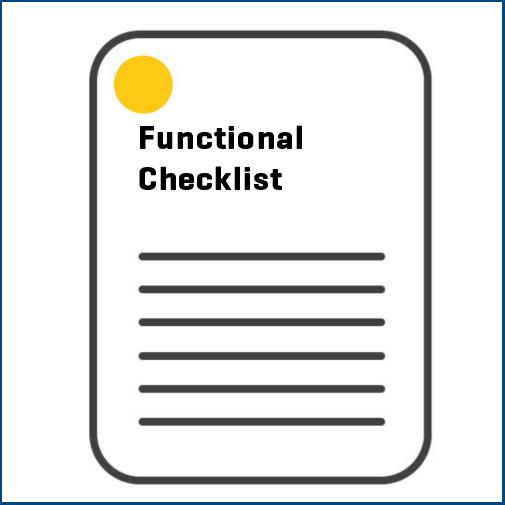 Functional Checklist