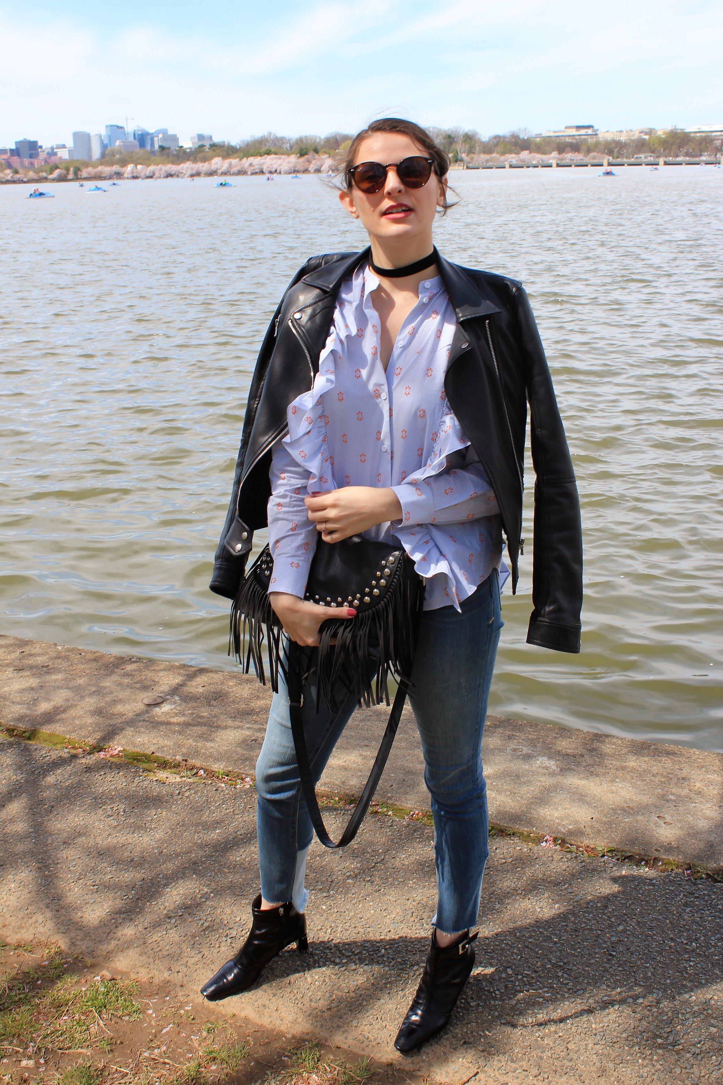 Edgy style washington dc blogger