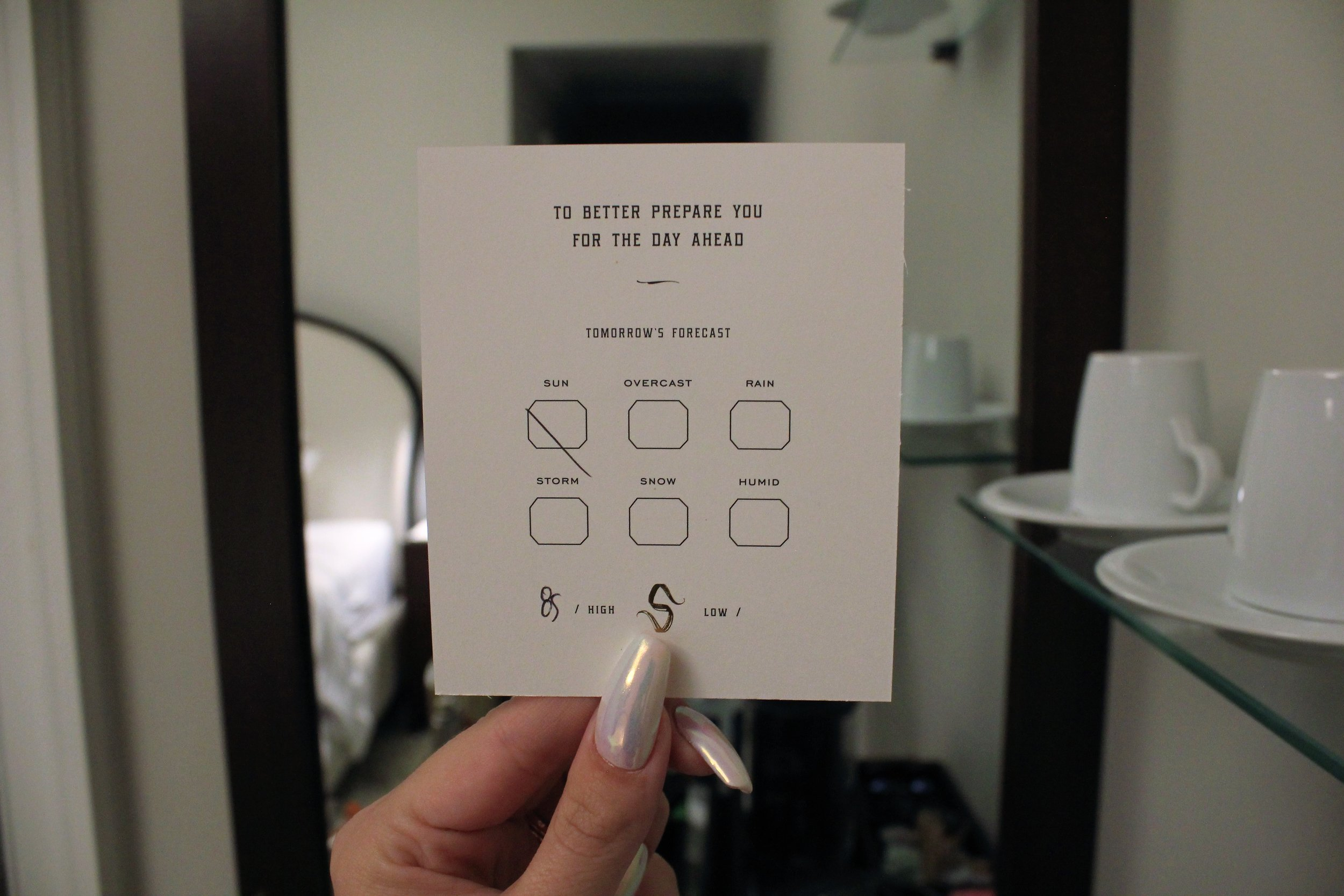 Daily Report Card at The Spectator Hotel