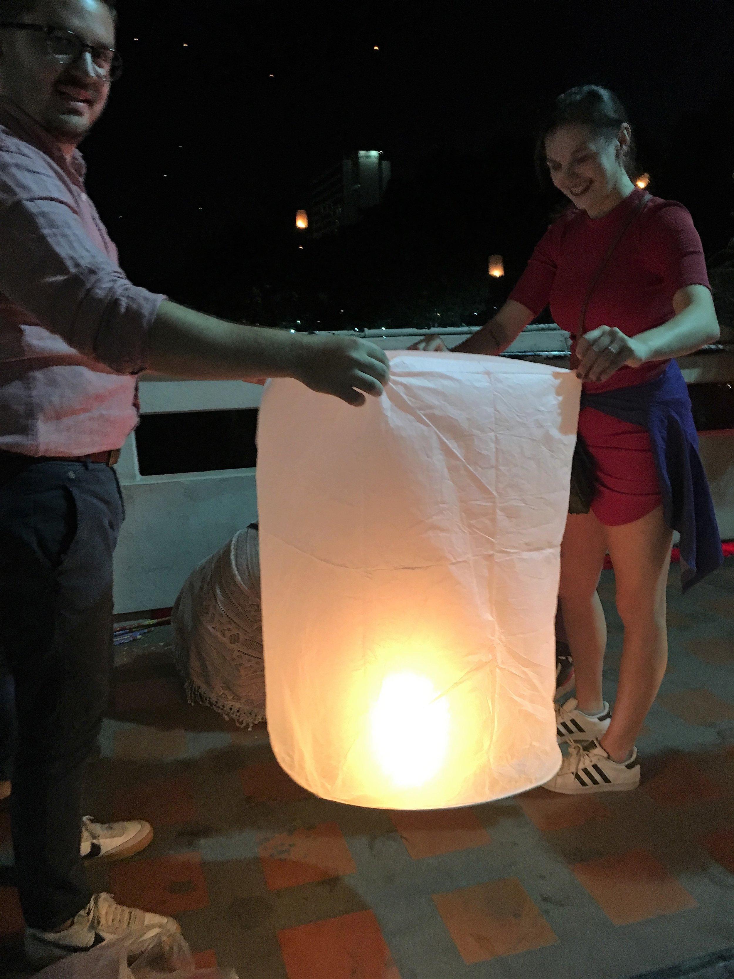 Honeymoon during Yee Peng Lantern Festival